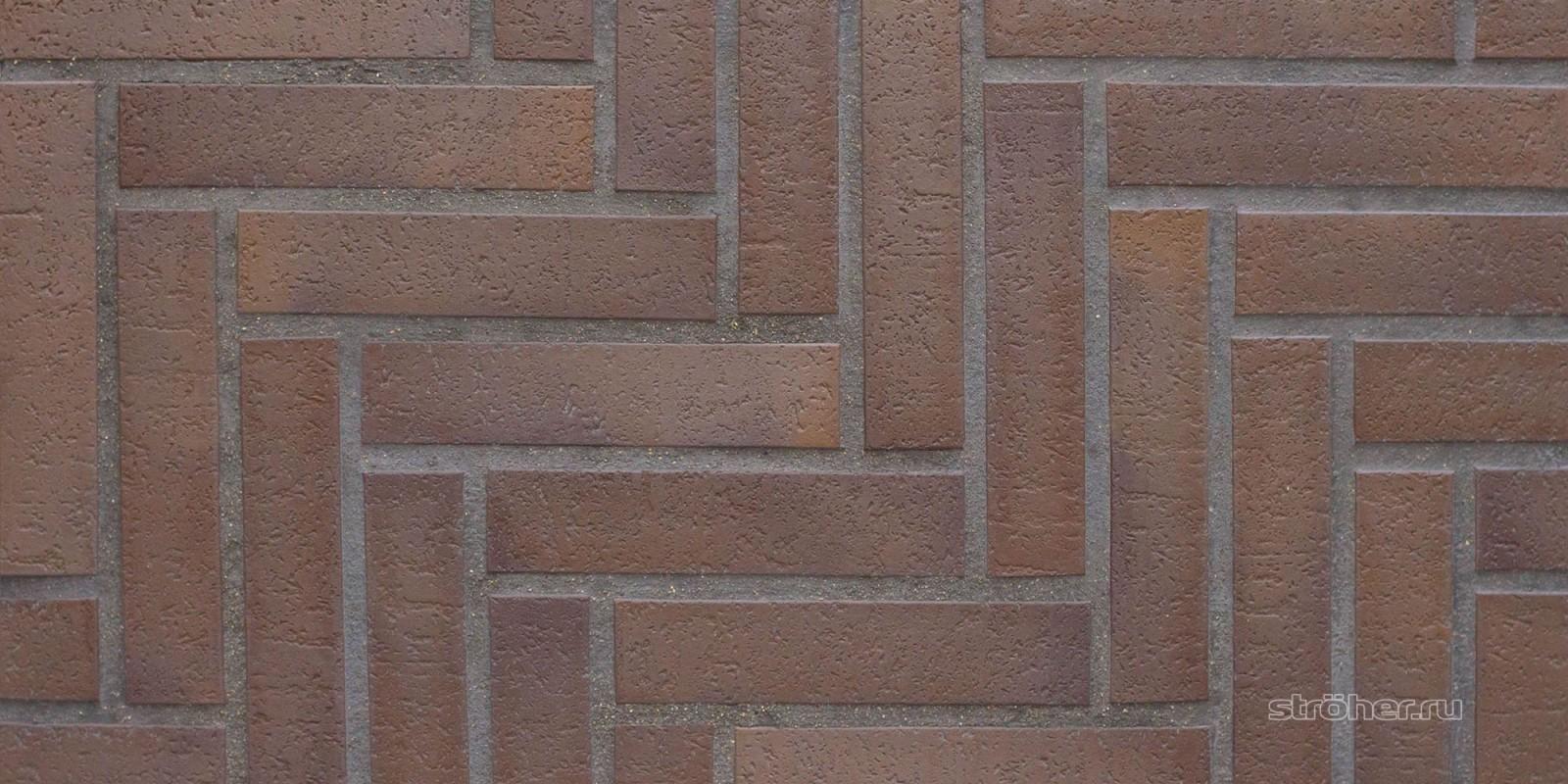 Купить тротуарную плитку для дорожек stroeher spaltklinker 212 braun